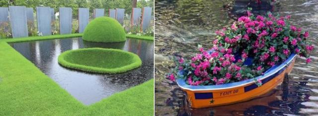Как украсить водоем плавающей клумбой