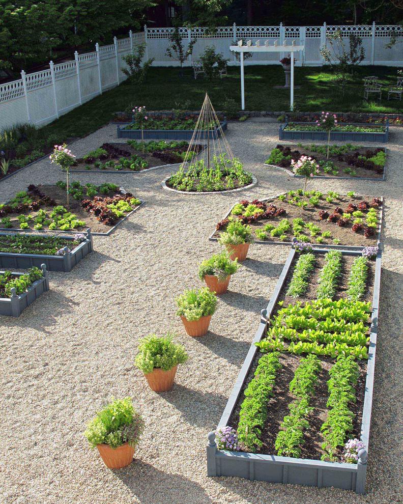 Небольшой огородик с дизайном в стиле «дзен»