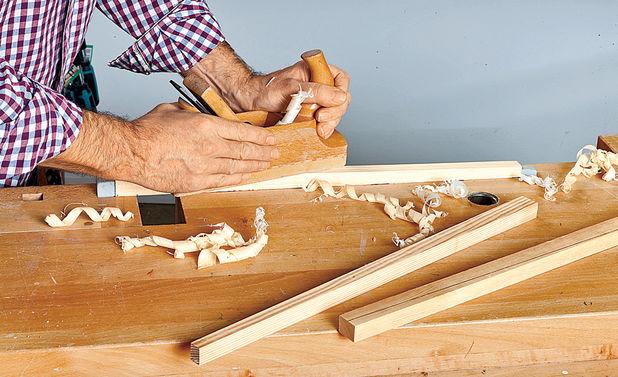 Подготовка четырех длинных брусков