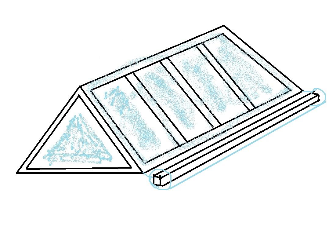 Схема бруска, завернутого в полиэтилен