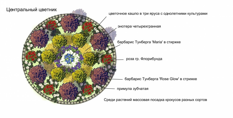 Схемы цветника