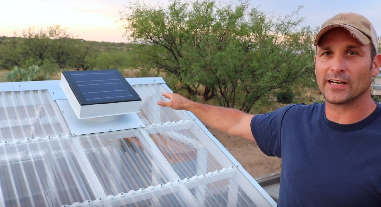 Солнечная батарея для питания вентилятора
