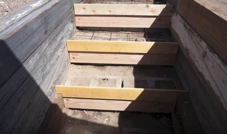 Сооружение ступенек