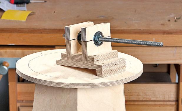 Внутренняя часть механизма мельницы, полностью собранная и смонтированная на сооружении