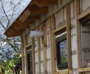 Деревянная обрешетка для монтажа утеплителя