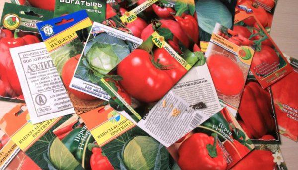 Семена разных производителей