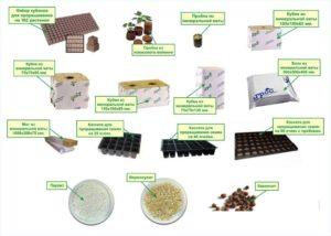 Виды материалов для гидропоники