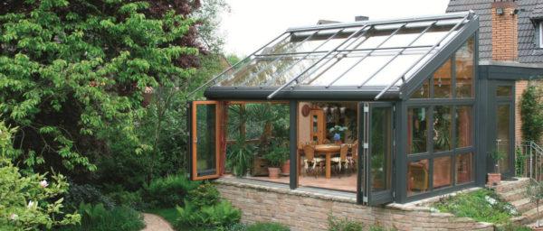 Зимний сад из стекла и алюминия