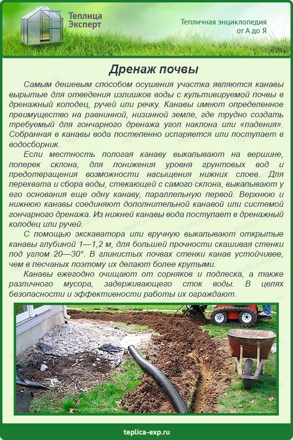 Дренаж почвы