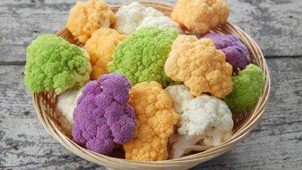 Головки цветной капусты разнообразных сортов