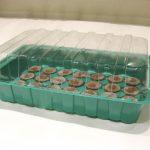 накрыть куполом из стекла, пластика или прозрачной пленки