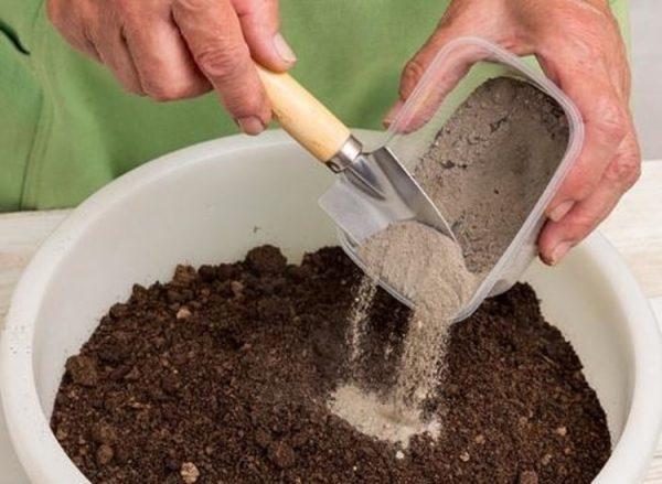 Подготовка почвосмеси с добавлением золы