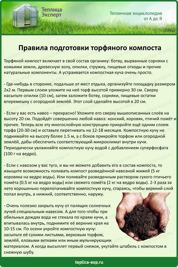 Правила подготовки торфяного компоста