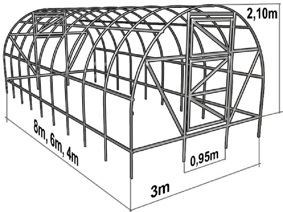 Чертежи размеры теплица из поликарбоната своими руками чертежи