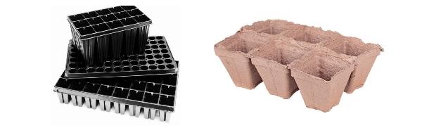 Пластиковые кассеты для выращивания рассады