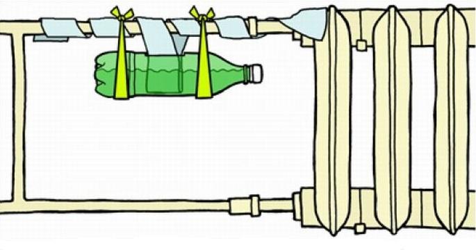 Пример простейшего увлажнителя воздуха