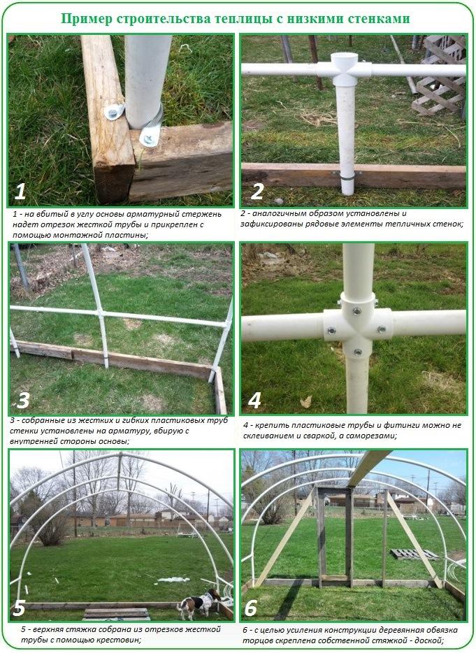 Пример строительства теплицы с низкими стенками (часть №1)
