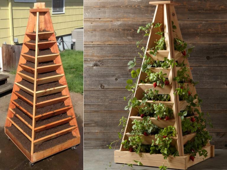 Вертикальная клубника выращивание 11