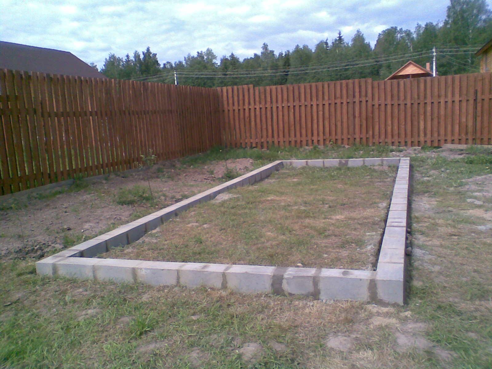 Фундамент из бетонныз блоков