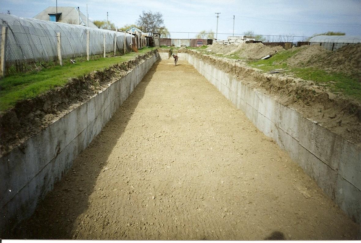 Готовый фундамент после демонтажа опалубки