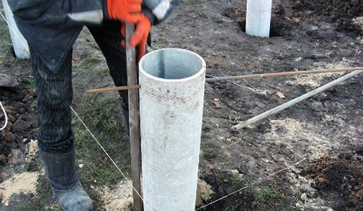 Фундамент на асбоцементных трубах своими руками 130
