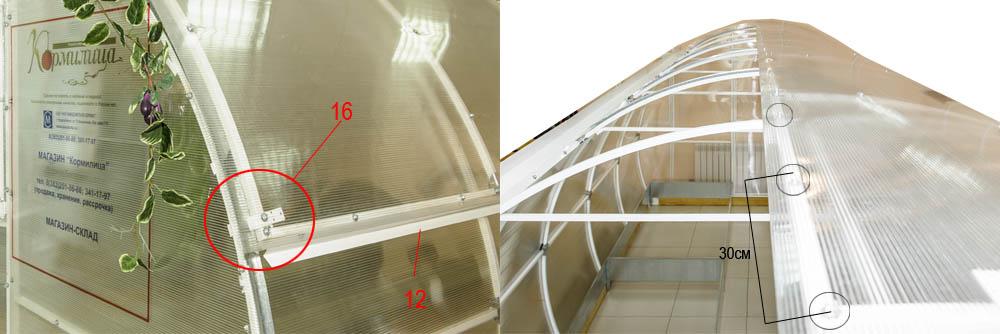 Как должен крепиться поликарбонат к крыше