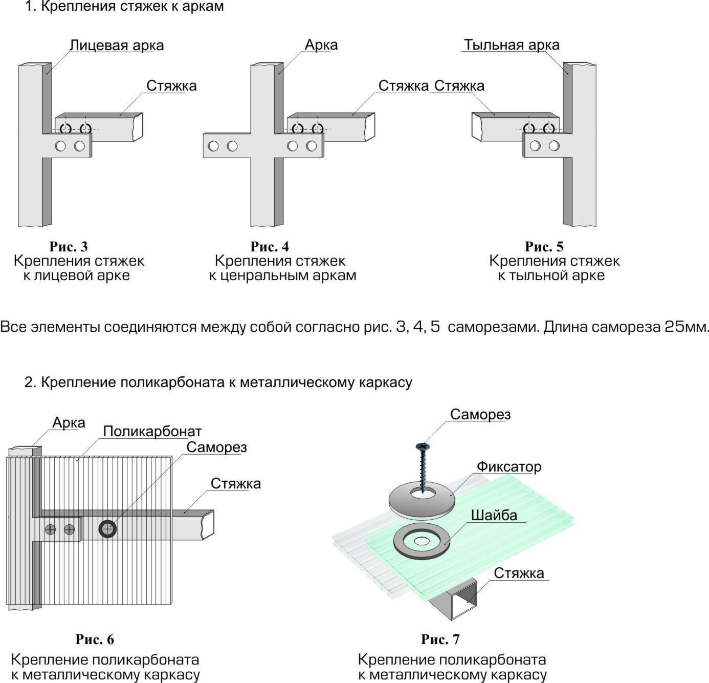 Основные детали для сборки конструкции