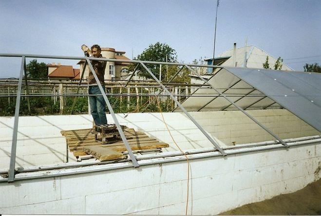 Пример металлического каркаса крыши