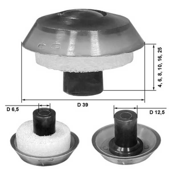 Размеры термошайбы