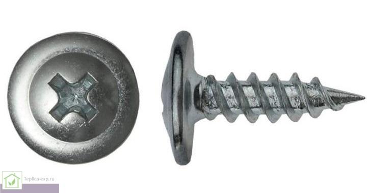 Саморез с прессшайбой 4,2х51, острый, оцинкованный