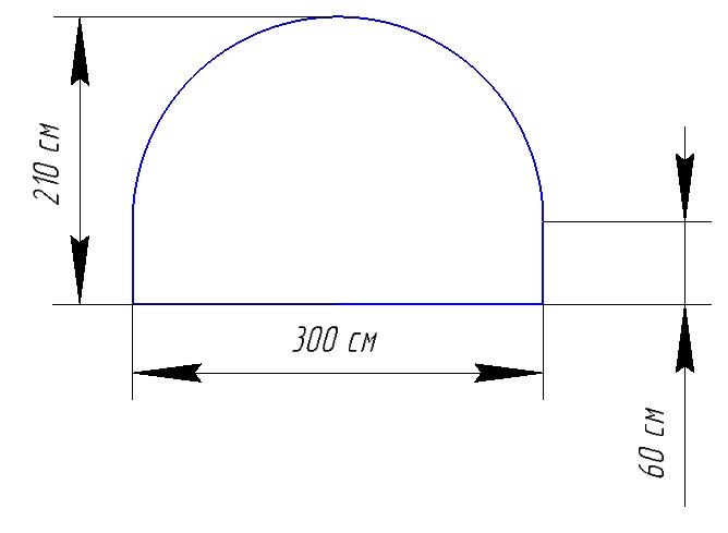 Схема арочного элемента