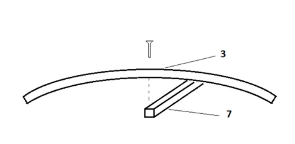 Схема крепления верхнего продольного элемента (7)