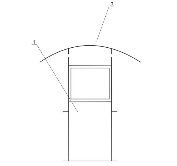 Схема крепления верхней части арки