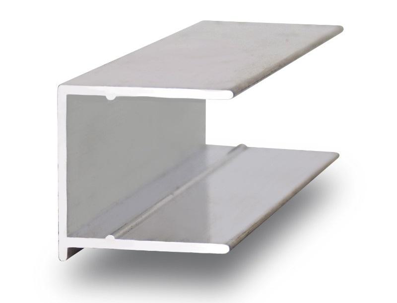 Алюминиевый торцевой профиль для поликарбоната, ПТО 4-16 мм