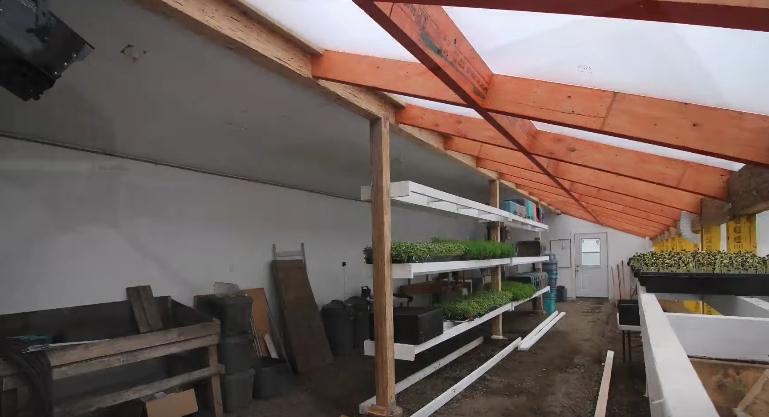 Конструкция готова к эксплуатации, вид изнутри