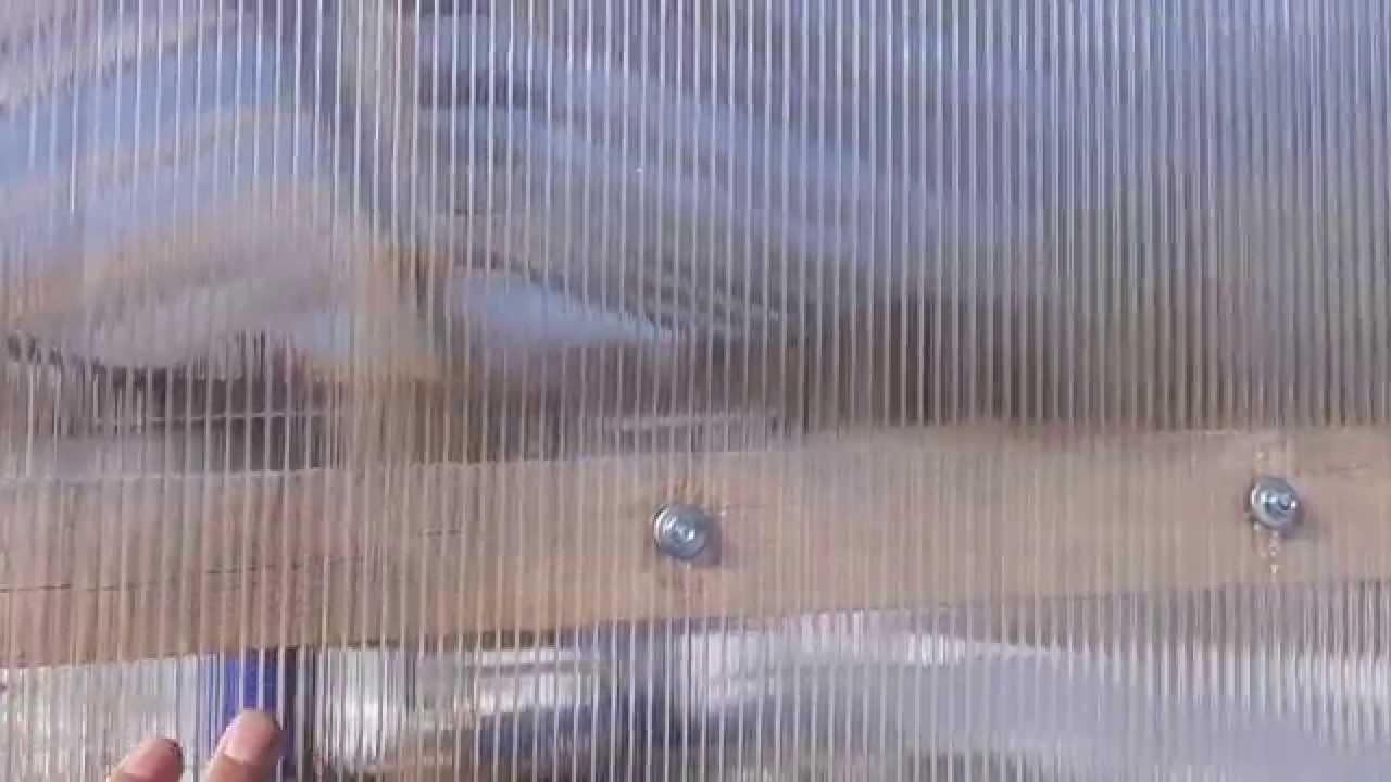 Крепление поликарбоната саморезами