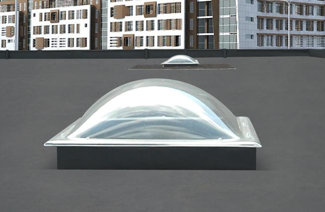 Купольные зенитные фонари из поликарбоната