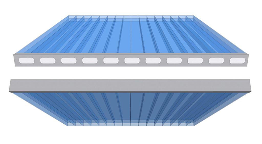 Перфорированная и герметизирующая ленты для сотового поликарбоната