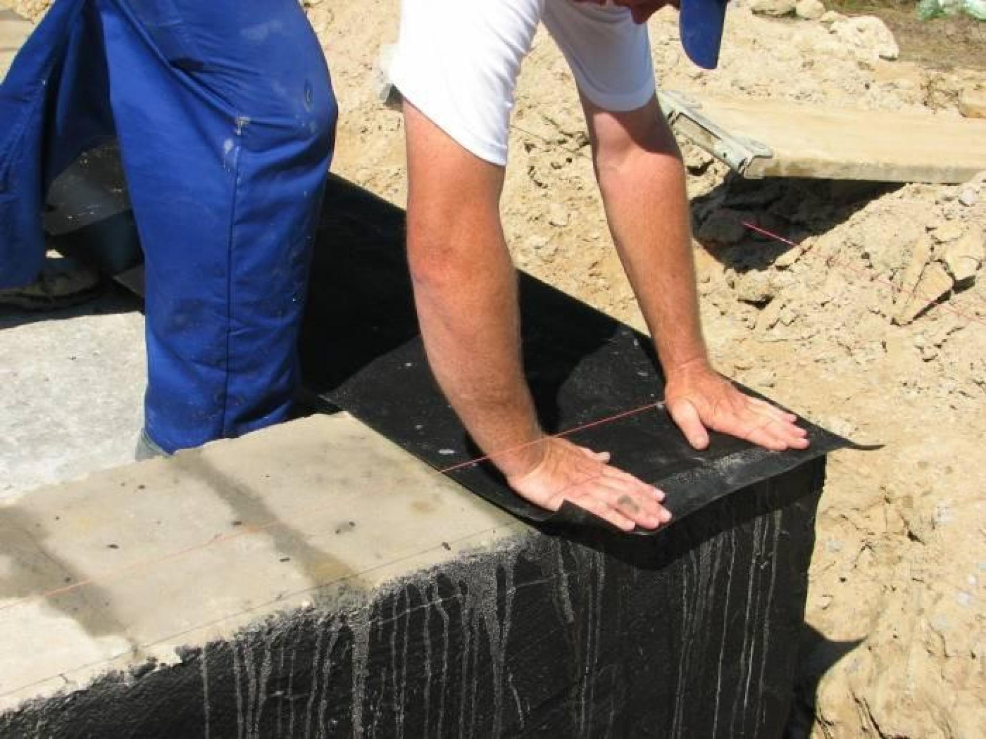 Пример гидроизоляции фундамента