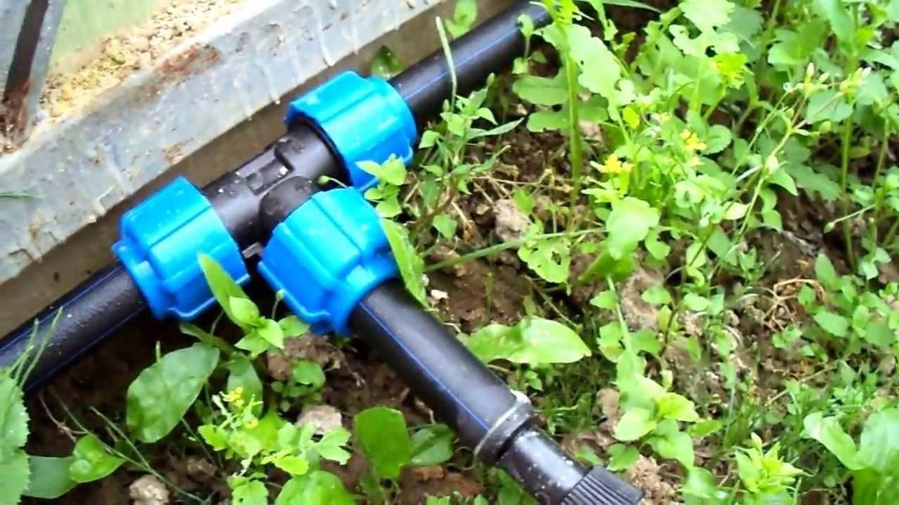Поливная система из пластиковых труб своими руками