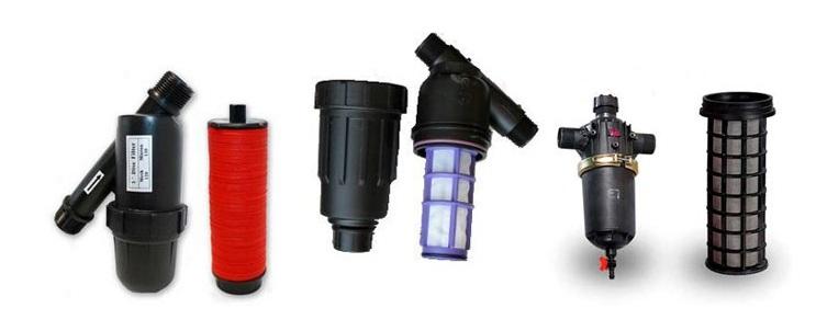 Различные виды фильтров для автополива