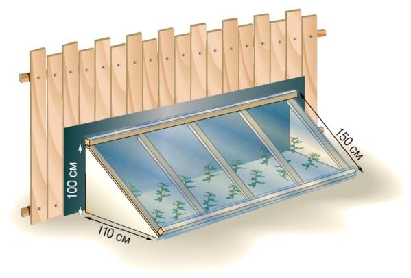 Схема односкатного парника