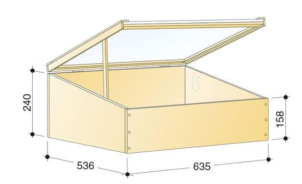 Схема самого ящика для рассады