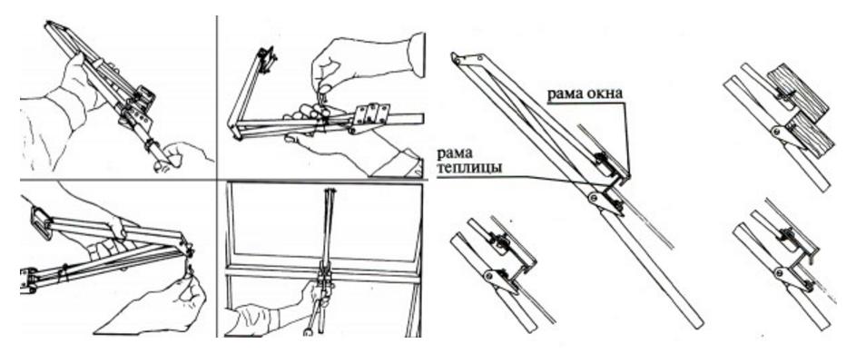 Схема установки автоматической форточки
