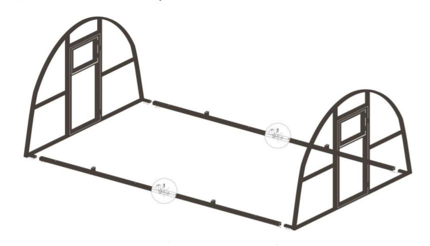 Схема установки торцов