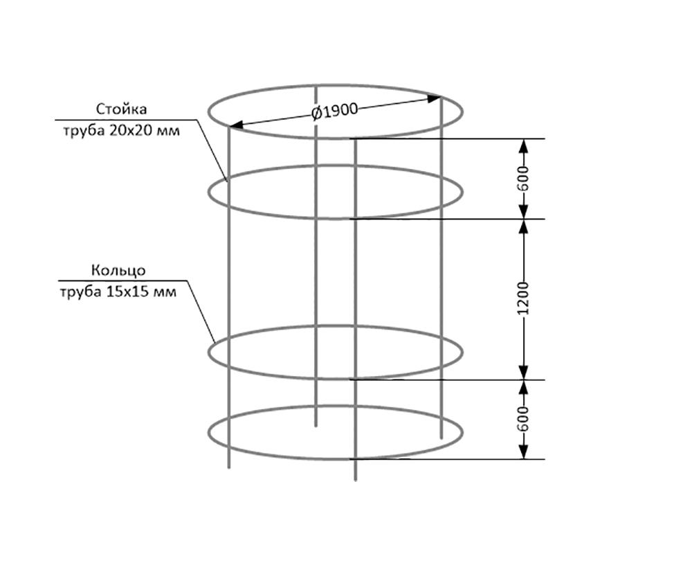 Соединение колец со стойками