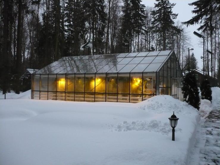 Зимняя теплица с дополнительным освещением