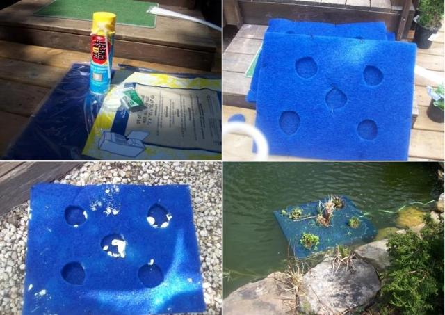 Изготовление плавающей клумбы