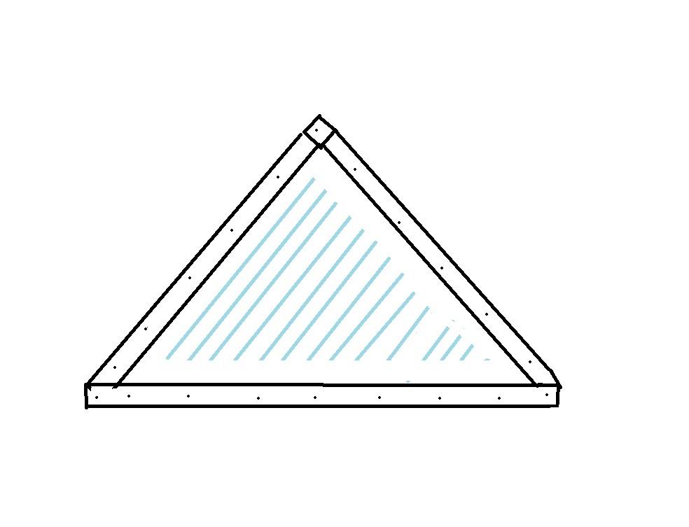 Обшивка боковых сторон каркаса полиэтиленом