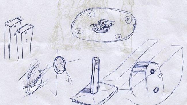Примерный чертеж креплений
